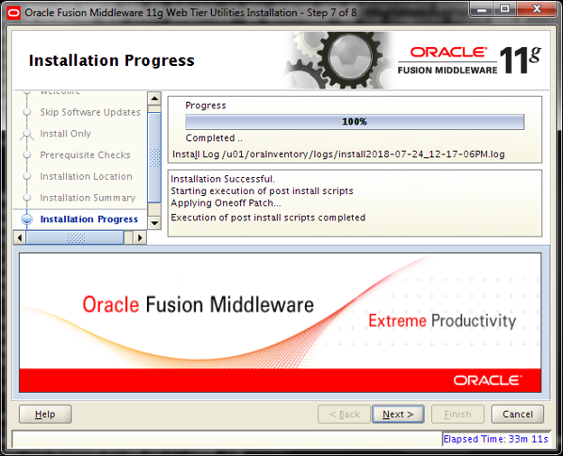 Description: Oracle FMW Web Tier [OHS] upgrade from 11 1